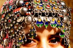 Silver head dress from Tiznit in the Anti Atlas mountains, Morocco.