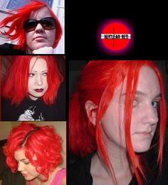 Nuclear Red Semi Permanent Hair Dye By Special Effects Semi Permanent Hair Dye, Special Effects, About Hair, Dyed Hair, Hair Makeup, Halloween Face Makeup, Hair Cuts, Hair Color, Hair Accessories