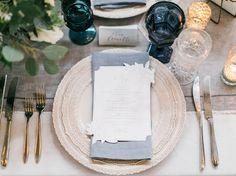 A Modern Industrial Wedding in Seattle for Two Musicians Industrial Wedding, Modern Industrial, Blue Palette, Green Wedding Shoes, Event Design, Wedding Planning, Table Decorations, Wedding Things, Menu
