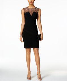 8c1bc45f7a7 Betsy   Adam Petite Embellished Sheath Dress   Reviews - Dresses - Petites  - Macy s