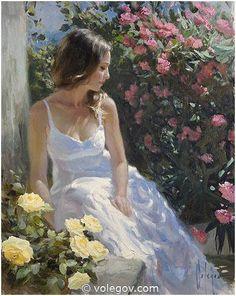 Vladimir Volegov 106. Oleanders Flowering (2013) *SOLD* http://www.volegov.com/oleanders-flowering-painting/