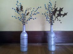 Repurposed wine bottles
