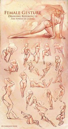 Female Gesture Drawings