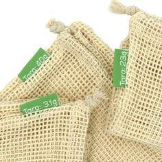 TreeBox Premium Obst- und Gemüsebeutel im 3er Set Fingerless Gloves, Arm Warmers, Burlap, Reusable Tote Bags, Accessories, Sachets, Products, Fruit, Fingerless Mitts