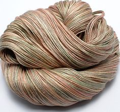 Hand Dyed Silk / Sea Cell Yarn  4 ply by yarnandfibre on Etsy