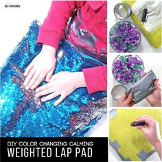 Super Simple Calming Weighted Lap Pad for the Kid that Can't Sit Still