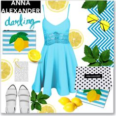 A fashion look from August 2015 by kellylynne68 featuring Alexander Wang, lemon and annaalexanderlondon