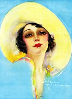 Lois by R Wilson Hammell 1932 Pin Up Girl Vintage, Vintage Ladies, Vintage Images, Vintage Art, Vintage Illustration Art, Art Deco Posters, Yellow Art, Pin Up Art, Old Art