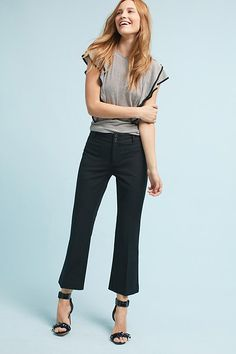 Slide View: 1: The Essential Crop Flare Trousers