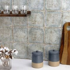 At TileBar, we have a wide selection of green colored tiles and mosaics. Find the perfect shade of green tile to complete your space. Farmhouse Remodel, Kitchen Remodel, Mission Style Kitchens, Angela Harris, Tropical Tile, Dark Brown Furniture, Dark Brown Cabinets, Industrial Style Kitchen, Brown Kitchens