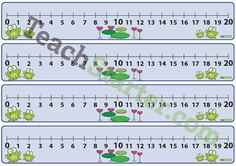 Number Line 0-20 - Frogs | Teaching Resources - Teach Starter