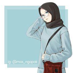 Girl Cartoon, Cartoon Art, Hijab Anime, Cover Wattpad, Chibi, Hijab Drawing, Islamic Cartoon, Bff Drawings, Hijab Cartoon
