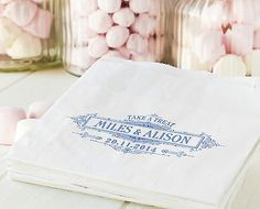 Personalised Sweet bags -  wedding engagement favour candy cart vintage style