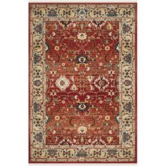 You'll love the Ines Red/Beige Area Rug at Wayfair - Great Deals on all Rugs products with Free Shipping on most stuff, even the big stuff.