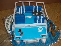 Congratulations to you and my good friend! Lake Cake, Boat Cake, You Are An Inspiration, Congratulations To You, Cake Pictures, Pontoon Boat, Baby Cakes, Cake Decorations, Dan