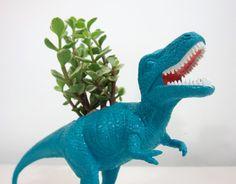 hollow plastic toys ---> creative planter