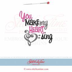 372 Valentine : You Make My Heart Sing 5x7