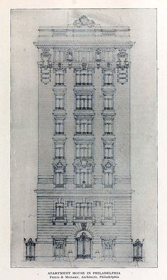 Design for an Apartment House, Philadelphia