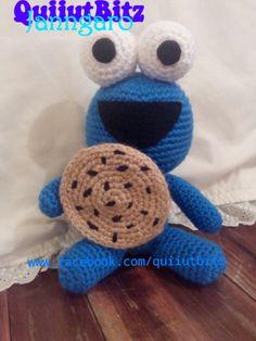 Baby comegalletas amigurumi crochet. 20 cm aproximadamente. www.facebook.com/quiiutbitz