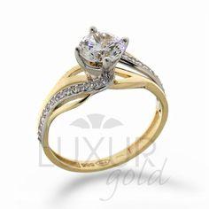 875f8ff6c luxusní mohutný zásnubní zlatý prsten v kombinaci zlata 1211107-5-56-1 |  Klenoty - hodiny - diamanty Jindřich Budín - zlaté náušnice, náramky,  řetízky, ...