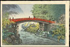 Koitsu, Tsuchiya (1870-1949) - Nikko Sacred Bridge - 日光神橋
