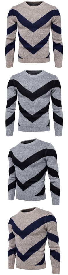 Sweater Pullover Men 2017 Male Brand Casual Slim Sweaters Men High Quality New Fight Color Hedging O-Neck Men'S Sweater