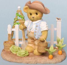 Cherished Teddies SO QUICKLY DO MY GARDEN HOURS FLEE Teddy Bear Figurine