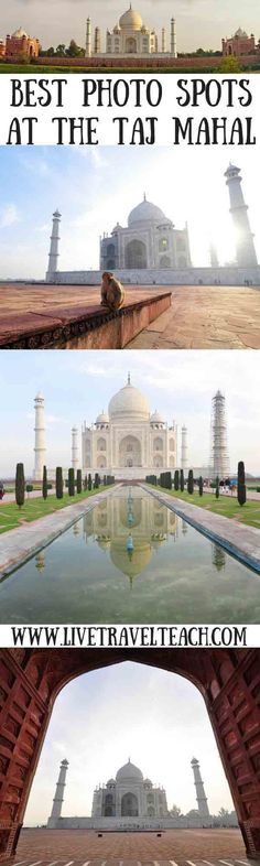 The Taj Mahal is on everyone's bucketlist and we all want to take great photos of it.  WIth this guide you'll find the best spots to take photos and learn everything else there is to see in Agra India.  Travel to Agra by train or bus it doesn't matter but make sure you read this travel guide if you like photography at a wonder of the world!:
