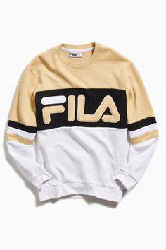 7e8cb6f02 Slide View: 1: FILA Freddie Colorblock Crew-Neck Sweatshirt L Mens  Sweatshirts,. Urban Outfitters