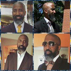 One of our faithful followers @chelltheworshiper's husband proudly rocks his gray all day everyday-THANK YOU!!  #GrauHair #Beard #BeardLife #BeautifulGrayBlack  #BlackManGrayHair #GrayBeard #BrothaYourGrayHairIsBeautiful #readventures #reathegal #readagal I Love Beards, Black Men Beards, Handsome Black Men, Hairy Men, Bearded Men, Black Man, Beard Fade, Sexy Beard, Beard Styles For Men