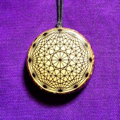 Tesseract Orgonite Pendant