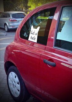 """Naklejka na szybę """"Kot w Aucie""""/ Sticker on the glass """"Cat in the Car"""""""