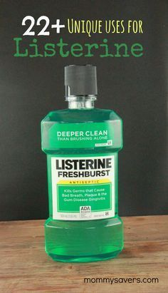 Because of the alcohol and essential oil content within, there are many other unique uses for listerine mouthwash