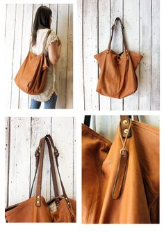 BOUQUET Handmade Italian Leather Tote Handbag\backpack di LaSellerieLimited su Etsy