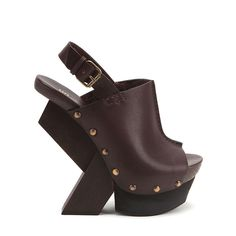 ouch ouch ouch ... this website is hurting me :( United Nude Abstract Clog Hi Dark Brown Vegetan Leather