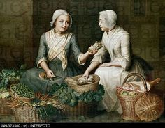 plaid kerchief and pinner aprons......18th century peasant clothing - Google Search