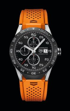 The new @tagheuer Connected Watch with Intel Inside features the immediately recognizable design codes of TAG Heuer's Carrera collection, including the hands, index, counters, date window and minute track. For the full story, visit: http://www.watchtime.com/wristwatch-industry-news/industry/tag-heuer-launches-tag-heuer-connected-worlds-smartest-luxury-watch/ #tagheuer #watchtime #smartwatch #watchnerd