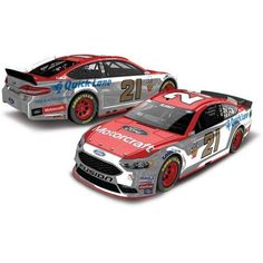 Lionel Racing Ryan Blaney #21 Motorcraft 2017 Ford Fusion 1:24th ARC Color Chrome Hoto Official Diecast of the Monster Energy Nascar Cup Series, White