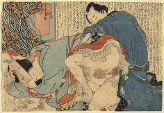Hokusai, Shunga from the album Overlapping Skirts [Tsuma-gasane], 1820