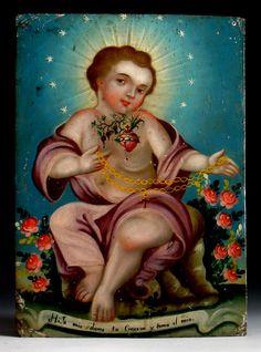 """""""Niño del Sagrado Corazon"""" - Mexico  mijo mio dame tu corazon y toma el mio"""