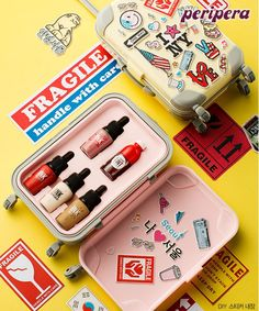 peripera mini luggage kit korean cute makeup