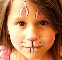 Easy Easter Bunny Face Painting