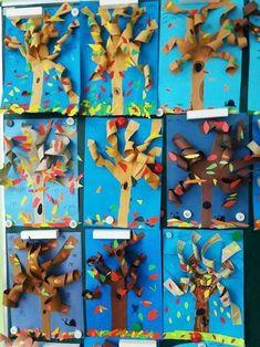 Kindergarten Christmas Crafts, Kindergarten Art, Preschool Crafts, Classroom Art Projects, Art Classroom, Autumn Crafts, Autumn Art, Autumn Activities, Art Activities