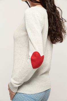 Heart Patch Knit Sweater