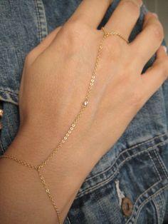 Gold Chain Finger Bracelet