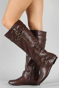 Love these boots!  Bianca-05 Zipper Buckle Riding Knee High Flat Boot Size: 6.5  Color: Brown