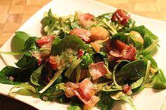 Feldsalat mit Maroni Seaweed Salad, Spinach, Chicken, Meat, Vegetables, Ethnic Recipes, Food, Salads, Carne Asada