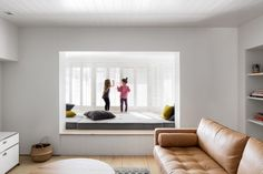 Minimal photography studio in Montreal includes children's play spaces