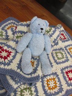 Prachtige gehaakte baby deken!