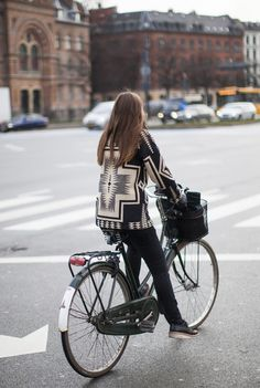 I love Aztec patterns. Also, I really want a bicycle.